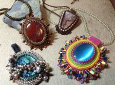Beaded Cabochon | Funky Hannah's, March 11, 2014  6-9pm