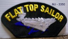 Flat Top Sailor Embroidered Patch