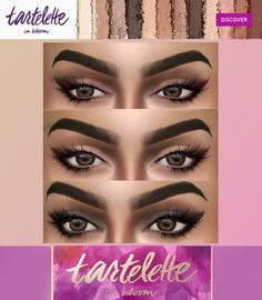 "hallowsims: "" HALLOWSIMS TARTE- TARTELETTE PALETTE - For Females; - 12 colors; - Teen/Young Adult/Adult/Elder; - Custom thumbnail; - Smooth texture;2048&4096 Alpha is made by @kenzar-sims thank you..."