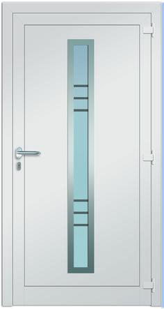 Sternstunden Eingangstüre PORTIA 2 - Aluminiumtüre Innenansicht in weiß. Besuchen Sie unseren Schauraum in Gramastetten - dort haben wir einige unserer Haustürmodelle ausgestellt. #Fensterschmidinger #doors #türen #alu #gramastetten #oberösterreich