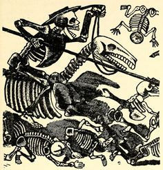 José Guadalupe Posada, Detail of The Calavera of Don Quixote, early 20th century