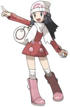 Dawn - Pokemon (winter) pokemon beanie, hair clips, scarf, coat, duffel bag, poketech, socks, boots.