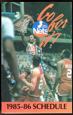 1985-86 NEW JERSEY NETS DIFEO BASKETBALL POCKET SCHEDULE EX+NM FREE SHIPPING #SCHEDULE