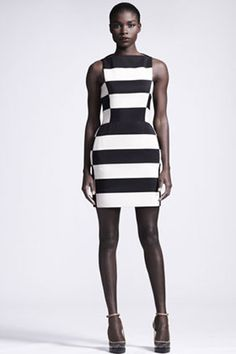 Let's talk about stripes. The vertical stripes are not for everyone but, a striped dress is. Let's see if we can thrift one.
