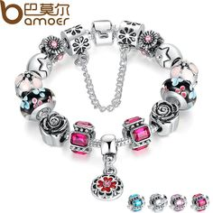 BAMOER Silver Original Glass Bead Bracelet for Women With Safety Chain Rhinestone Strand Pulseras Luxury PA1836 $7.97   => Save up to 60% and Free Shipping => Order Now! #fashion #woman #shop #diy  http://www.rodjewelry.com/product/bamoer-silver-original-glass-bead-bracelet-for-women-with-safety-chain-rhinestone-strand-pulseras-luxury-pa1836/