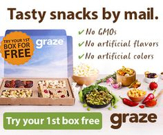 Get a FREE Trial Box from Graze Snack Subscription Service - The Box MomThe Box Mom
