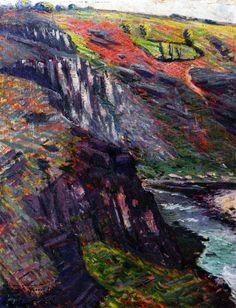 Othon Friesz Landscape, Crozant painting Free worldwide Shipping