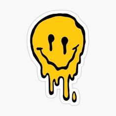 Millones de diseños originales hechos por artistas independientes. Stickers Cool, Preppy Stickers, Tumblr Stickers, Face Stickers, Kids Stickers, Printable Stickers, Laptop Stickers, Grunge, Rick Und Morty