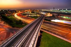 Dubai's urban-scape - first place in the Life in motion photography competition, organised by National geographic Abu Dhabi