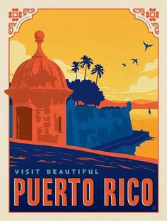 Puerto Rico Travel Poster
