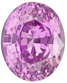 Genuine Pink Sapphire Loose Gemstone, Oval Cut, 9.4 x 7.5 mm, 3.42 Carats at BitCoin Gems