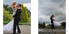 Sheath Wedding V Neck Sleeveless Cheap Appliques Major Beading Elegant Garden…