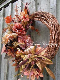Elegant Floral Wreath Floral Designer Wreath Country French