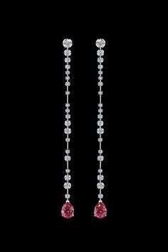 Alexander Arne spinel and diamond earrings in white gold, from the Bubbles…