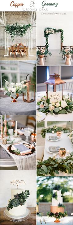 copper and greenery wedding color ideas ❤️ #greenerywedding #goldwedding #copperwedding #vintagewedding #weddingcolors #weddingideas http://www.deerpearlflowers.com/copper-and-greenery-wedding-color-ideas/