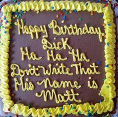 cake fails dick: matt