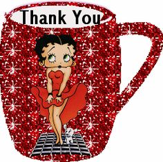 Good Morning Betty Boop Comments | Thank You Betty Boop Cup Comment Image | MyCommentSpace