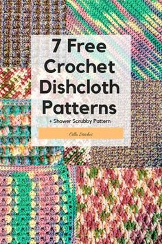 Free Crochet Dishcloth Pattern Roundup – Cilla Stitches Hi! These past two weeks I have been crocheting dishcloths like crazy. I now have I don't know why I started making them, I think I just wanted to use up my dishcloth yarn. Knit Or Crochet, Crochet Gifts, Single Crochet, Easy Crochet, Crochet Hooks, Free Crochet, Crochet Scrubbies, Dishcloth Crochet, Crochet Dishcloths Free Patterns