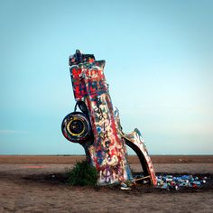 Cadillac Ranch is located 8 miles west of Amarillo, Texas on the well-known Route 66.