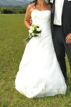 Robe de mariée bustier ivoire T40