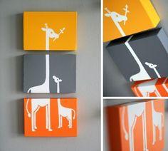 Apaixonada por #decoração?! Pendure na parede de #casa quadros divertidos! Faça 3 ou mais #quadros que interajam entre si! #decoração #design #madeiramadeira #criatividade
