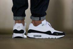 Nike Air Max 1 Ultra Essential White/Black/Wolf Grey - 819476-101