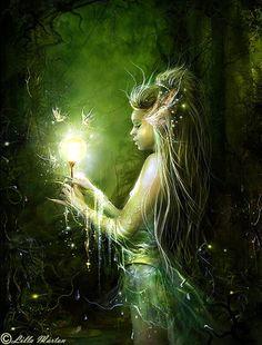 Lilla Márton Lillucyka - Lady of the swamp, Fantasy creatures Magical Creatures, Fantasy Creatures, Mythological Creatures, Fairy Land, Fairy Tales, Forest Fairy, Forest Elf, Woodland Fairy, Fantasy Kunst