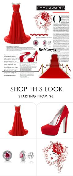 """""""Red Carpet Look"""" by katerina1500 ❤ liked on Polyvore featuring Prada, BERRICLE, Balmain and emmyredcarpet"""