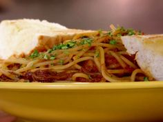 Hwy 61 Roadhouse BBQ Spaghetti recipe from Diners, Drive-Ins and Dives via Food Network