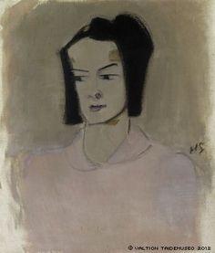 HELENE SCHJERFBECK Finnish Nurse III (Ester Räihä, 1943) Helene Schjerfbeck, Finnish Women, Prinz Eugen, National Gallery, Face Art, Art Faces, Art Society, Scandinavian Modern, Oil On Canvas