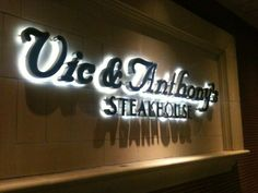 Vic & Anthony's in Houston, Texas! Been here so many times & each time, it is wonderful! ~