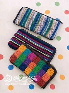 Crochet Wallet, Crochet Coin Purse, Crochet Case, Crochet Purses, Cute Crochet, Knit Crochet, Crochet Designs, Crochet Patterns, Crochet Phone Cover