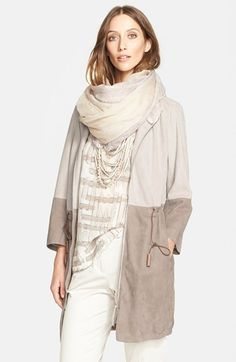Fabiana Filippi Two-Tone Suede Jacket Weekender, Blazers For Women, Jackets For Women, Fashion Wear, Womens Fashion, Style Fashion, Suede Jacket, Urban Fashion, Casual Chic