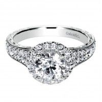 Victorian Halo Engagement Ring Setting  #wedding #diamond