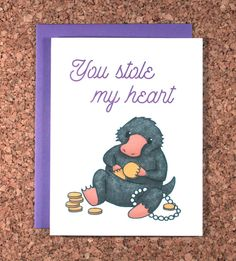 Hey, I found this really awesome Etsy listing at https://www.etsy.com/listing/489676434/harry-potter-valentine-card-niffler-you