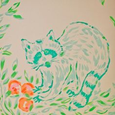 Raccoon detail in our Lilly Pulitzer Store at the Mall at Green Hills in Nashville.