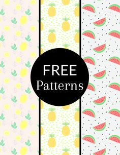 Free download: summer fruit patterns for #photoshop