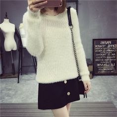 Street fashion solid color hedging bottoming sweater