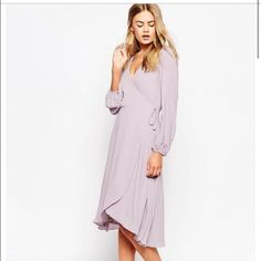 New lilac flows dress Nothing wrong with it, beautiful color! Brand new with tags ASOS Dresses Midi