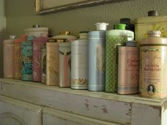 Vintage talc cans | Flickr - Photo Sharing!