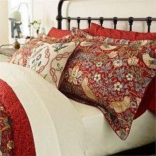 Morris Strawberry Thief Crimson Bedding Duvet Cover Collection