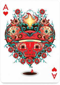 Ace of Hearts by Mr. Kone - http://playingarts.com/cards/mr-kone/
