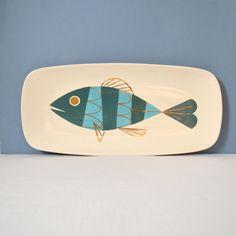 Vintage Metlox Tropicana Originals Tropical Fish Serving Platter by MidModMomStore on Etsy https://www.etsy.com/listing/179505525/vintage-metlox-tropicana-originals