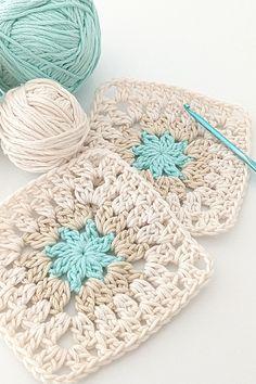 Chevron Crochet Patterns, Granny Square Crochet Pattern, Crochet Squares, Knit Or Crochet, Crochet Motif, Crochet Doilies, Patron Crochet, Beginner Crochet Projects, Crochet Instructions