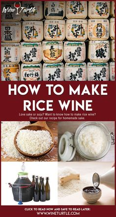 How to make rice wine recipe. Soju, Sake If you're a fan of Japanese cuisine or a wines and spirits Sake Wine, Wine And Beer, Coffee Recipes, Wine Recipes, Mango Wine, Sushi, Wine Yeast, Homemade Wine, Wine