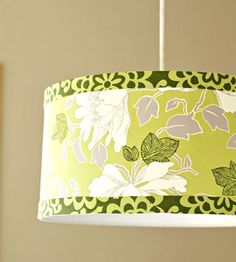 Fabric covered lampshade - tutorial