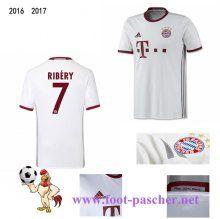 Bundesliga: Maillot Football Bayern Munich Blanc (RIBERY 7) Third 2016 2017…