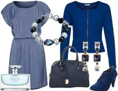 Feeling blue - Dress - Casual Outfit - stylefruits.nl