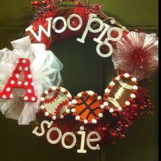 Woo Pig Sooie! Razorback Wreath!