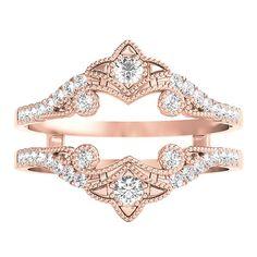 1/4 ct. tw. Diamond Ring Enhancer in 10K Rose Gold